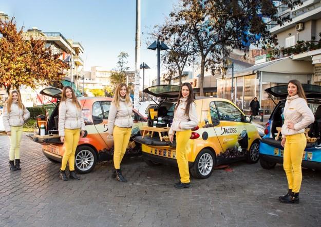 Για 2η συνεχή χρονιά η guerilla marketing ενέργεια του sales promotion center για τον Jacobs Flavours